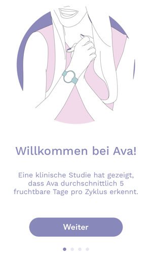 Ava Armband Bedienung