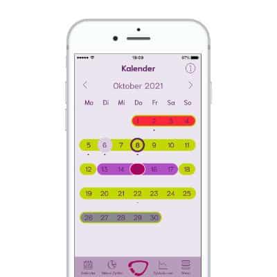 cyclotest mysense App Kalenderansicht