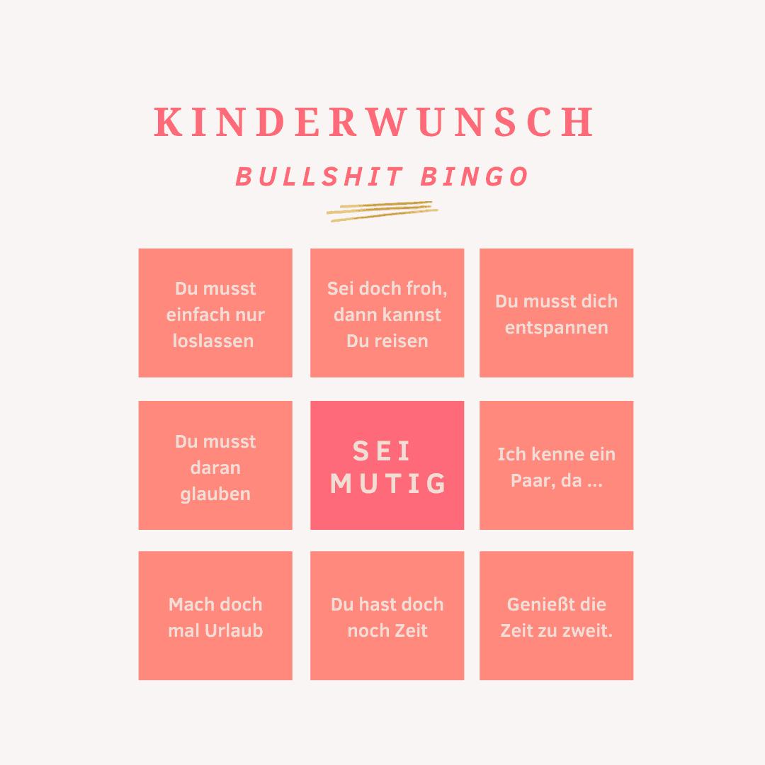 Kinderwunsch Bullshit Bingo